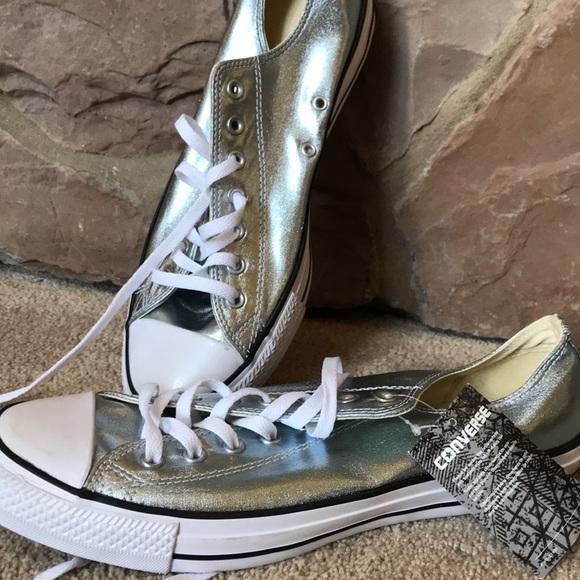 Converse Shoes   Mens Silver Size 12